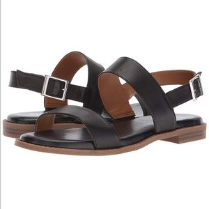 Franco Sarto Velocity Black Sandal NWOT Size US9M